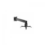Кронштейн потолочный, Deluxe, DLPRB-2G, Макс. нагрузка - 20 кг, Для проекторов, Вращение до +/-8°, Угол наклона 15°вверх и 15°вниз, Чёрный