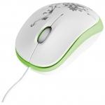 Мышь Delux DLM-100OUG, (Бело-Зелёный)