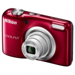 Цифровая камера Nikon CoolPix A10, 16.1Mpx, 4.6-23mm, 5x zoom, JPEG/AVI, f/3.2-6.5, SD, 2xAA, Red