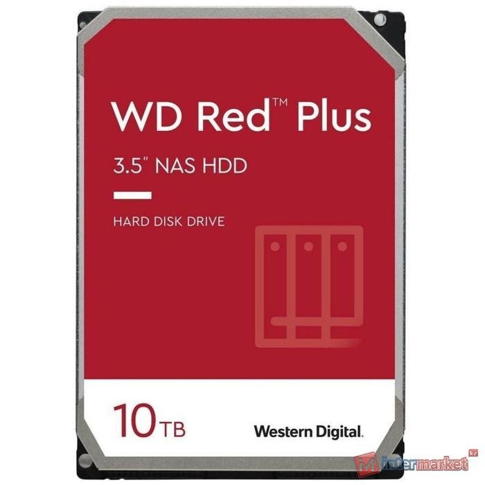 Жесткий диск для NAS систем HDD 10Tb Western Digital RED Plus SATA6Gb/s 3.5